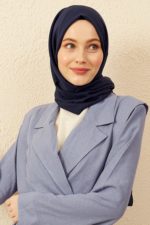 Jakar Şal Döngü Desen - Lacivert